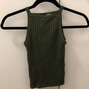 2/$15!!!!! H&M Green Crop Top